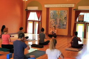 Anne Robinson teaches intermediate Vinyasa Class at MaMA